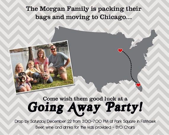 Going Away Party Invitation Wording – Goodbye Party Invitation Wording