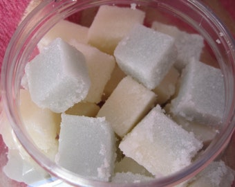 Goat Milk Sugar Cube Scrubs, great for exfoliating your skin. Several Scents