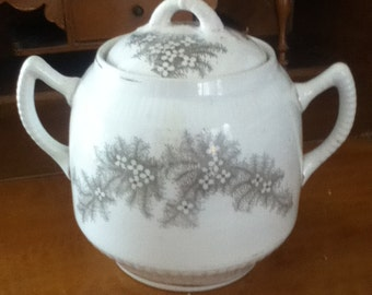 Rare Antique Lebelle & Wheeling Pottery Adamantine China Sugar Bowl