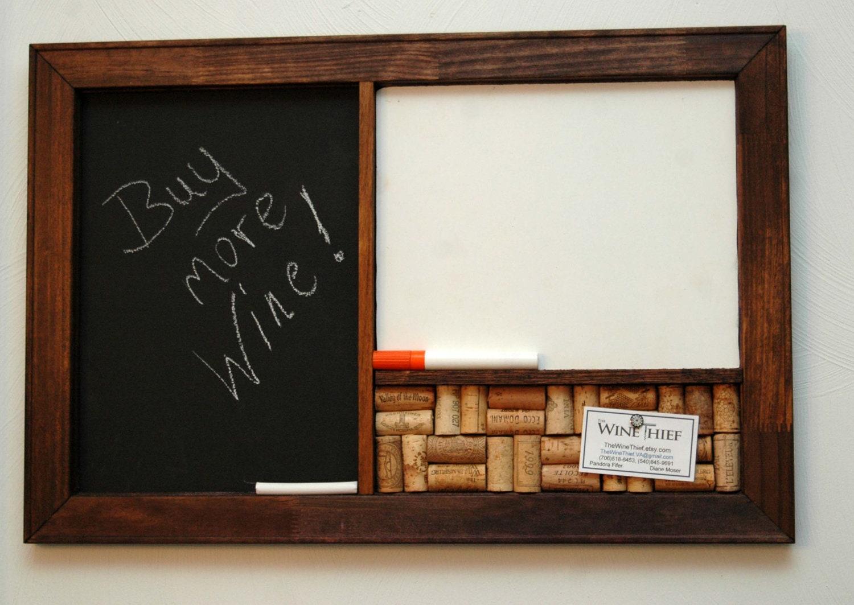 Corkboard Blackboard & Dry Erase Board Organizer by TheWineThief