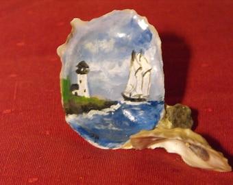 hand painted sea shells