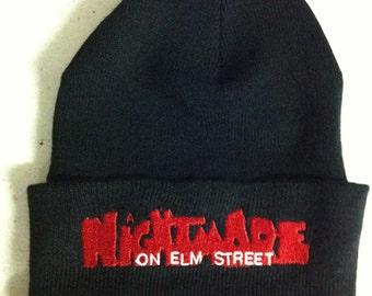 retro 1980's horror movie Nightmare On Elm Street beanie