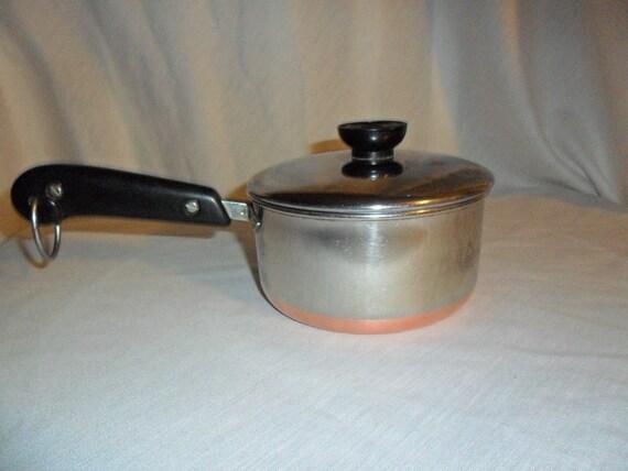 Vintage Revere Ware 3 / 4  Quart Pot Copper Clad -  Lot 019