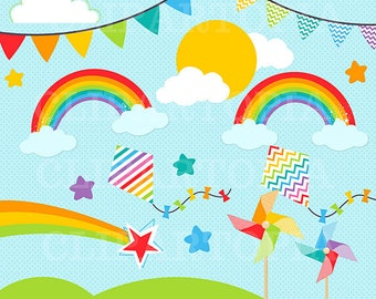 Rainbow Clipart For Personal and Commercial Use