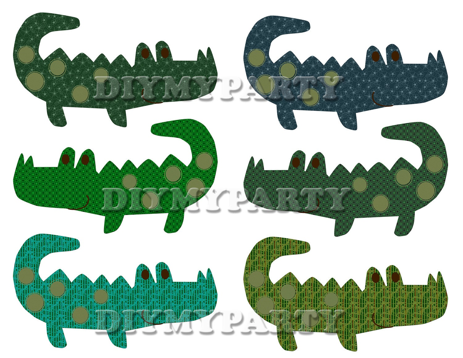 Printable party decor crocodiles clip art crocodile clipart for Art decoration pdf