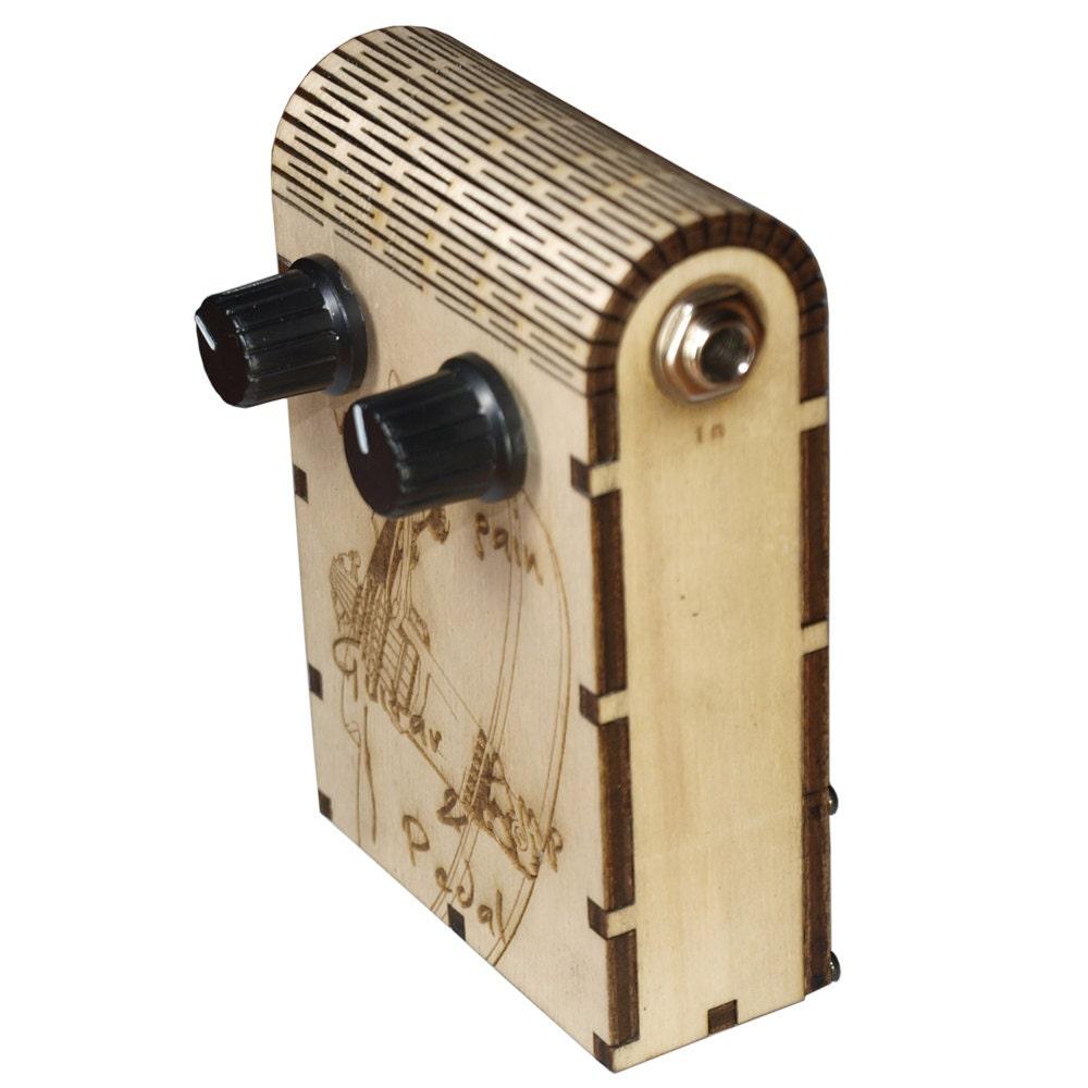 mini headphone guitar amp pedal wooden box by darkcatws on etsy. Black Bedroom Furniture Sets. Home Design Ideas