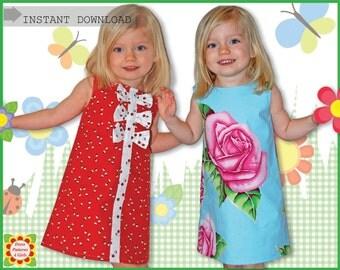 Adele Sewing Pattern for Children + Free Mother-Daughter Apron Pattern, Girls Dress Patterns, 2-12y, pdf, Digital Pattern, Tutorial
