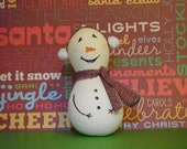 Snowman Gourd Christmas Ornament
