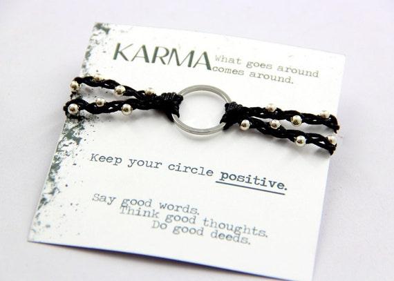 Karma Bracelet Ring Woven