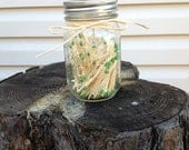 Mason jar matchstick holder and strike plate