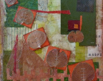 Tumble-Mixed Media art collage on board