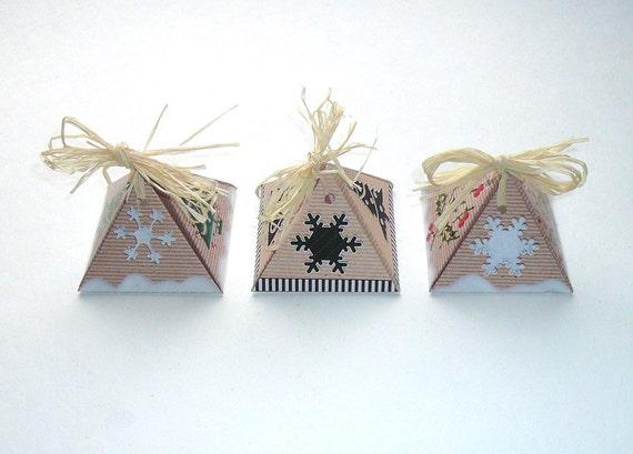 naturfarbene pyramiden geschenkschachtel diy zum selber machen. Black Bedroom Furniture Sets. Home Design Ideas