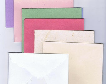 hand-laid paper all deckle envelope