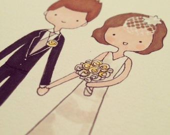 Custom Portrait/Custom Couples Portrait/Custom Family Portrait - Original Illustration (Paper)