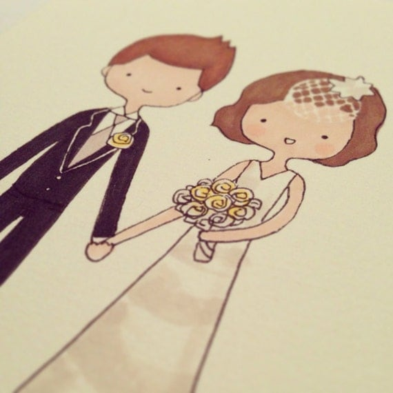 Custom Portrait or Custom Couples Portrait on Paper