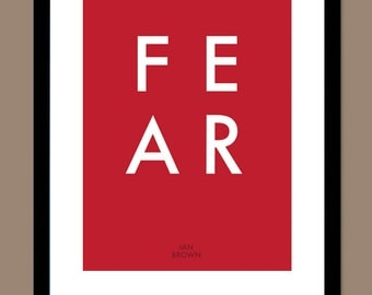 F.E.A.R - Ian Brown / Song Lyric Typography Poster