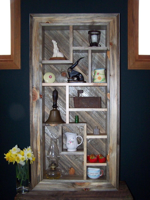 Shadow Box Display Shelves Handmade Wood Wall Art