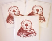 I Sea an Otter Set of 3 Greetings Cards