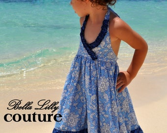 Gracie halter dress - pdf pattern 12M-10Y