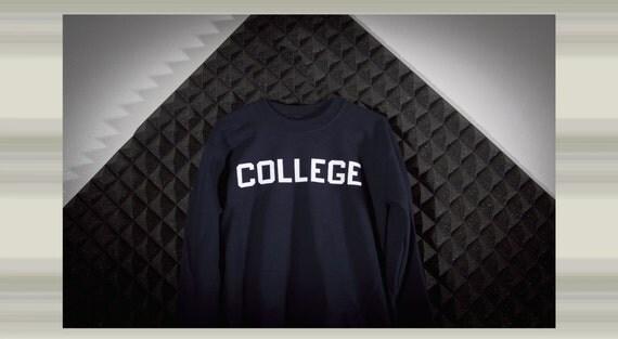 College crew neck sweatshirt
