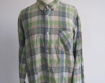 Vintage Green Checked Shirt