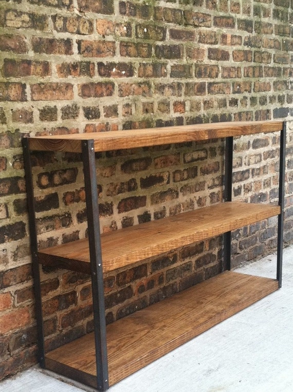 Industrial Reclaimed Wood Bookcase Shelf