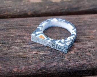 QR4 - 3D printed 'QR Code' ring