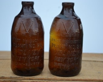 Miller beer brown glass bottles