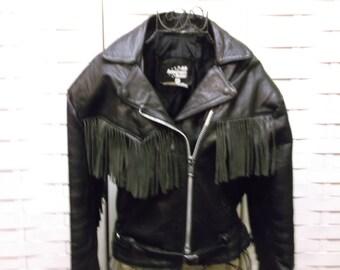 All American Rider Women's Motorcycle Jacket - Vintage Coat Size Medium