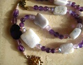 """Chaplet Prayer Beads     """"Source of Life"""" of Blue Lace Agates, Amethyst and faceted Glass for your prayers and meditation."""