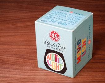 GE Mardi Gras Super 8 Model Movie Light - Vintage 1960 General Electric