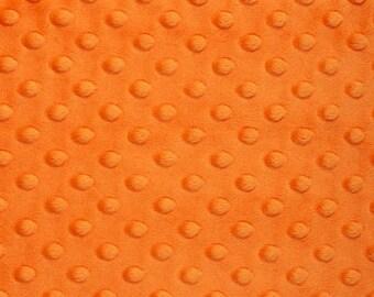 Orange Minky Fabric - 1 yard