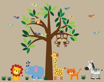 Tree WALL DECAL Jungle Wall Decal - C100