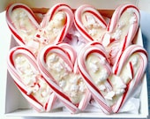 Candy Cane Hearts GIFT BOXED Peppermint Bark Candy 5 Small Hearts