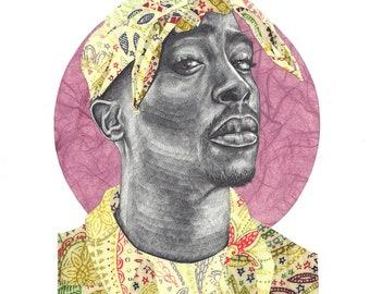 Tupac Shakur Limited Edition Print A4