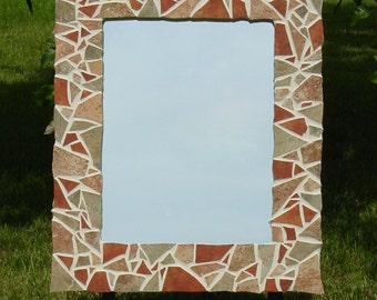 Handcrafted Mosaic Tile Mirror
