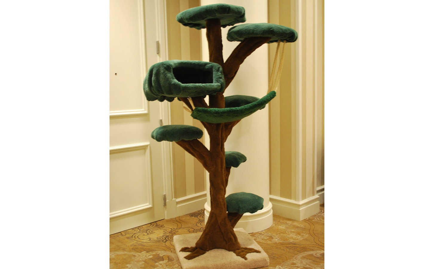 Tallest LUXURY CAT TREE by CloudNineCatTrees on Etsy