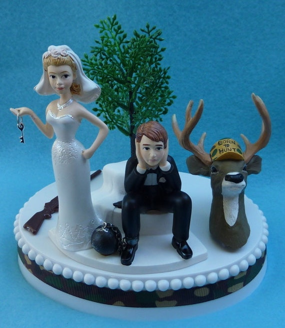 hunter wedding cake toppers unavailable listing on etsy 16209