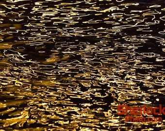 Gold Reflections on Water - Image 02489