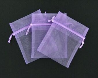 Lavender organza bags 3 inch x 4 inch 12 pieces