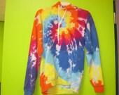 Rainbow Spiral Tie Dye Hoodie - Small