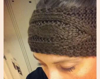 PATTERN** Knitted Cable Headband Pattern, Pattern, Knitted Headband, Cables, Handmade, Knitting Pattern, Knitted Headband Pattern.