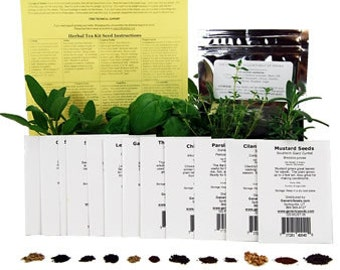 Culinary Herb Garden Seed Collection - Grow Parsley, Basil, Thyme, Dill, Cilantro, Marjoram, Oregano, Mustard, Savory & More