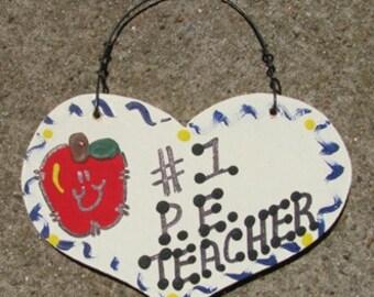 Teacher Gifts  Number One 814 P E Teacher Heart