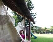 Traditional Mayan Hammock. 100% Natural-colored mayan hammock.