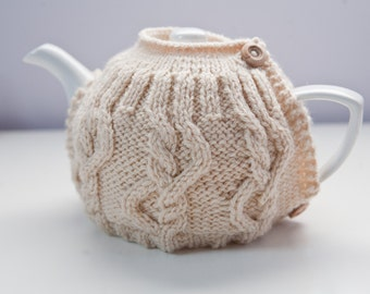Knitting Pattern Cable Tea Cosy : Popular items for cream tea cosy on Etsy