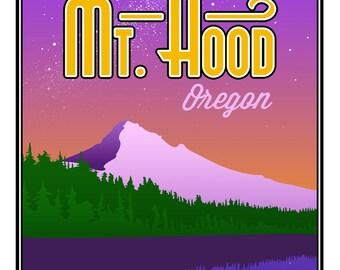 "Mt. Hood Poster Print - Large (16"" x 20"")"