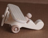 Handcrafted Mini Wooden Airplane 202 and Speed Boat Combo (Boat Only)