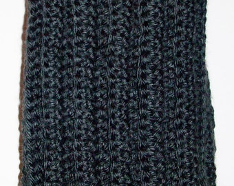 Simply Warm and Comfy Scarf - Dark Gray - Made To Order
