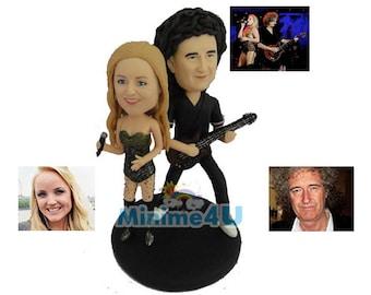Rock star custom handmade wedding cake topper & gift  (Free Shipping Worldwide)